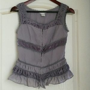 Charlotte Russe size small grey top